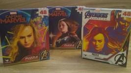 Avengers Marvel Captain Marvel 48 Piece Jigsaw Puzzles Lot of 3 Brand Ne... - $9.88