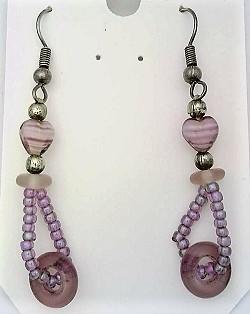 Art glass bead fashion earring  5