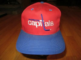 11F/VINTAGE 1990's NHL WASHINGTON CAPITALS TWINS ENTERPRISE SNAPBACK HAT... - $49.45