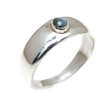 Cats eye 925 Sterling Silver Statement Ring  Handmade silver Ring cats e... - $27.90