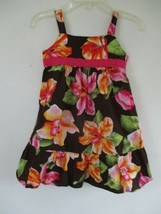 Colorful Pinky Girl's Size 3T 100% Cotton Sleeveless Multicolor Floral D... - $20.00