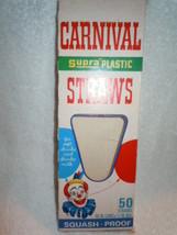 Vintage Carnival Supra Plastic Straws Empty Box - $3.99