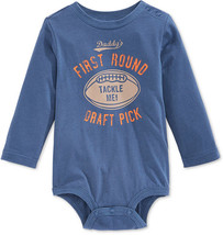 First Impressions Baby Boys' Long-Sleeve Draft Pick Bodysuit,Size 12 Months - $8.90