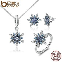 Crystalize Snowflake Blue Jewelry Sets by BAMOER - $50.00