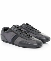 New Hugo Boss Men's Premium Fashion Leather Sport Sneakers Shoes Thatoz Grey