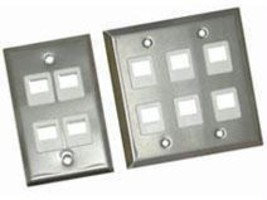 4 PORT SINGLE GANG FACE PLATE STAINLESS - $6.41