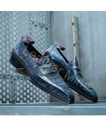 Men's Handmade Patina Loafers Leather Dress Custom Made Shoes For Men - $159.99+