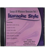 Songs of Whitney Houston Volume 1 Karaoke Style NEW CD+G Daywind 6 Songs - $15.76