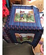 "Fabric Piece Golfing Pattern Craft Hobby Sewing 34"" X 22"" - $6.15"