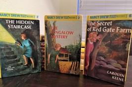 NANCY DREW MYSTERY Carolyn Keene  #2, #3, #6 GLOSSY FLASHLIGHT Edition B... - $12.87