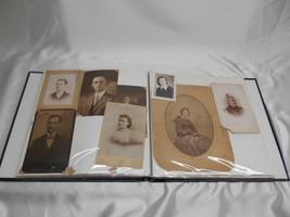 Old Vtg 1800-1960 PHOTO ALBUM SCRAPBOOK LOUIS DUELL ALICE BEL ANCESTORY ... - $98.99