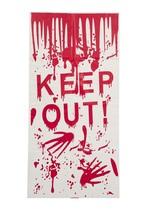 Halloween Door Cover 'Keep Out', Halloween Party Prop/Room Decoration - $4.37