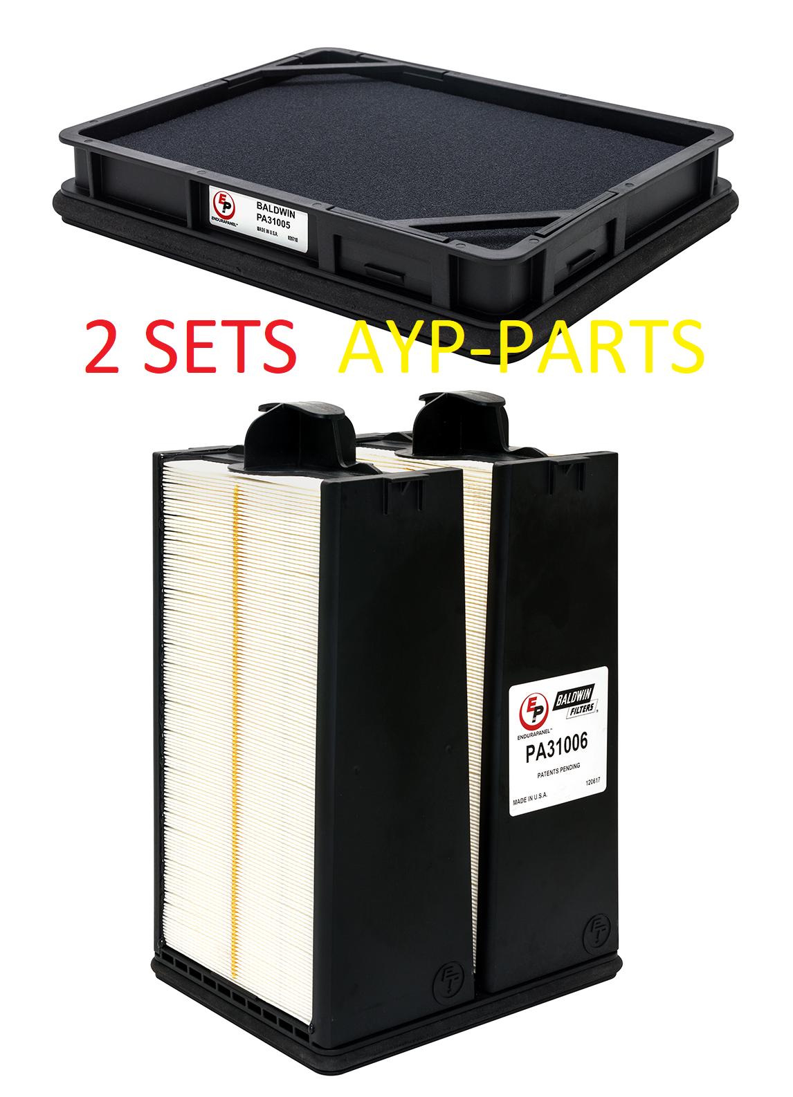 (LOT OF 2 SETS) PA31006 & PA31005 BALDWIN AIR FILTER AF55021 AF55312 - $173.99