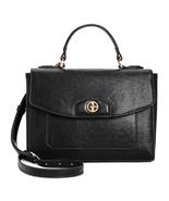 Giani Bernini Bark Patent Top-Handle Crossbody Bag, Black $130 - $32.17