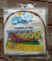 Vintage BLUE! 1982 Zee Toys The Wet Set Fashion Air Mat Pool Float #597... - $42.00