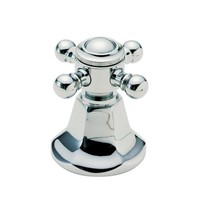 California Faucets H-47-MIDX-PN Cross Handle w/Index Button in Polished Nickel - $39.60