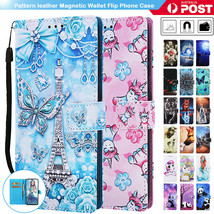 For Samsung Galaxy A20 A30 A50 A70 Case Leather Patterned Wallet Card Fl... - $61.82