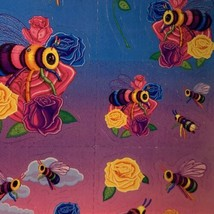 LOVELY Vintage Lisa Frank Complete Sticker Sheet  Bees Roses  S366 1daySHIP! image 2