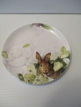 "Marjolein Bastin Nature's Journey Ceramic Rabbit 8"" Dessert ,Salad Plate... - $23.76"