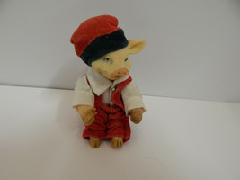 Santa Pig Christmas Ornament Figure Resin Cute - $12.82