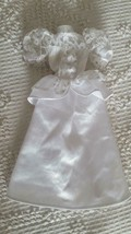 Barbie Doll Size Formal White Wedding Dress Gown, Black B Label, Satin, Lace, - $4.94