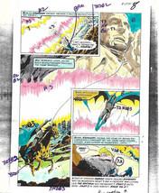 Original 1970s Batman/Kamandi Brave & the Bold 120 DC comic color guide art pg 8 - $99.50