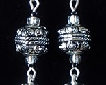 Handcrafted Tibetan Silver Wire Cage and Raised Textured Zinc Alloy Earrings