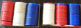Vintage Lot of 2 Boxes of 75 Poker Chips – 150 Chips in All – ORIGINAL B... - $19.79