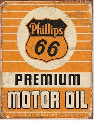Phillips 66 Motor Oil  Gas Metal Sign Tin New Vintage Style USA #1996