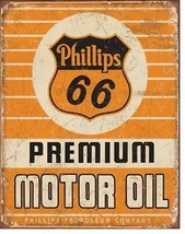 Phillips 66 Motor Oil  Gas Metal Sign Tin New Vintage Style USA #1996 - $10.29