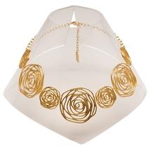 "Ultra Glam Karine Sultan ""Katy"" 4-Row Gold Textured Metal Statement Cuff image 14"