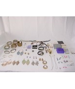 Lot of Costume Jewelry Assorted Bracelets-watches-earrings-necklaces Mak... - $28.49