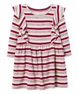 Gymboree Berry Stripe Ruffle Feathersoft Dress Toddler Size  2t NWT  - $28.71