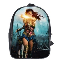 School bag wonder woman bookbag 3 sizes - $38.00+