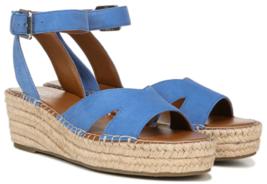 Franco sarto pellia us size 7 m EU 37 woman in blue espadrilles wedge sandals - $40.56