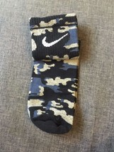 Crazy Hip Hop Nike Blue/Grey Camouflage, Como, Military, Army Socks - $1.97