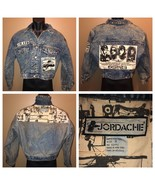 Vintage 80s JORDACHE Denim Jacket Acid Washed Cropped Jean S Golden Age ... - $234.95