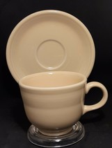 Retired Fiesta Yellow Cup & Saucer Homer Laughlin China Co Lead Free U.S.A - $2.64