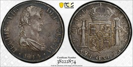 1814-PTS PJ Bolivia 8 Reales PCGS XF45 Lot#G559 Silver! Scarce! - $187.00