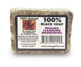 RA Cosmetics 100% Black Soap Unscented Heals Nourishes Cleans Face Body ... - $7.87
