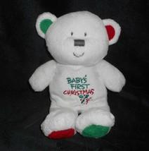 Ty Pluffies 2006 Babys 1ST Primera Navidad Blanco Oso de Peluche Peluche Peluche - $21.87