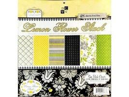 DCWV Lemon Flower Stack 12x12 Cardstock Paper Pad #PS-005-00154