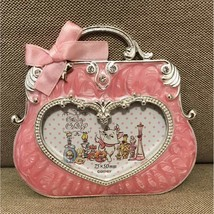 Disney Aristocat Marie Pink Ribbon mini Photo frame stand Bag motif Japanlimited - $52.47