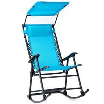 Zero Gravity Folding Rocking Chair Rocker Porch-Navy - $84.49