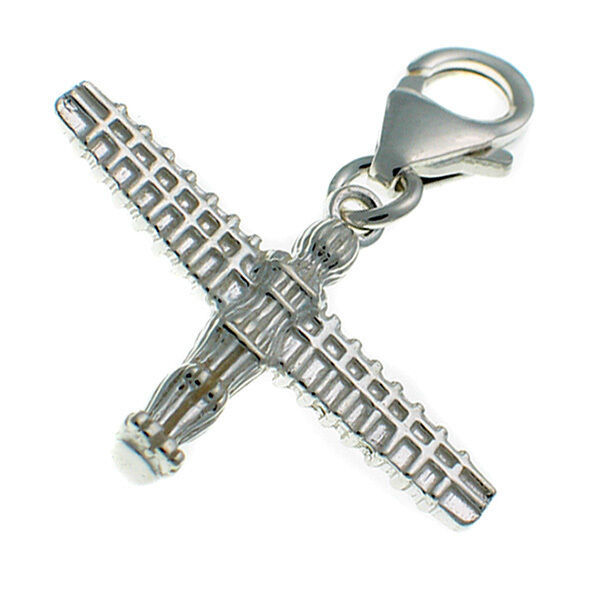 Sterling 925 Silver British Charm by Welded Bliss Angel of the North Clip on Fit - $18.82