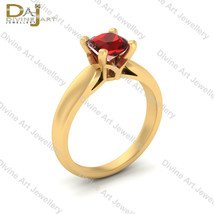 Legend Of Zelda Inspired Wedding Ring Red CZ Cushion Cut Engagement Ring... - €69,52 EUR+