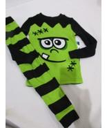 NWT Boys Halloween Frankenstein 2pc Black Green Pajamas Set 3T, 4T - $21.99