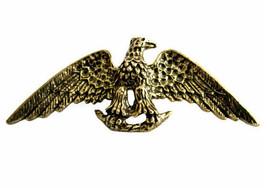 Vintage Zentall Antiqued Goldtone Eagle Brooch Pin - $22.00