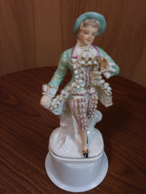 Vintage Made in Occupied Wales Japan Porcelain Figurine Colonial/Victorian Man image 2