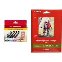 Canon PGI-270/CLI-271 w/ Paper Combo Pack, - $104.99
